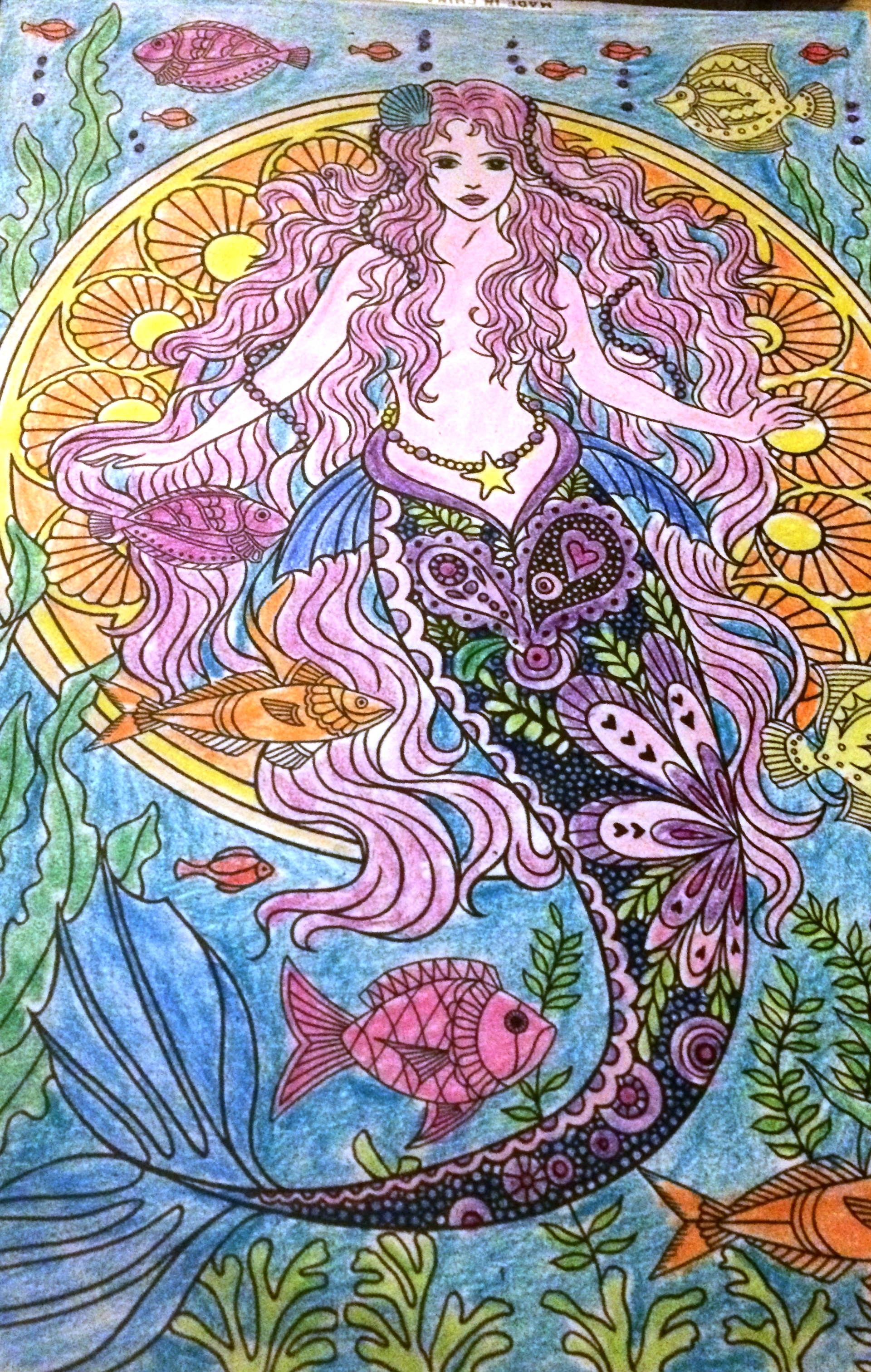 Mermaid Colouring