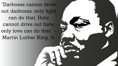 Martin Luther King - Hate cannot drive out hate only love can do that.